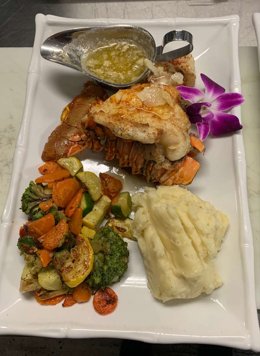 Broiled Lobster Tail & Scallops