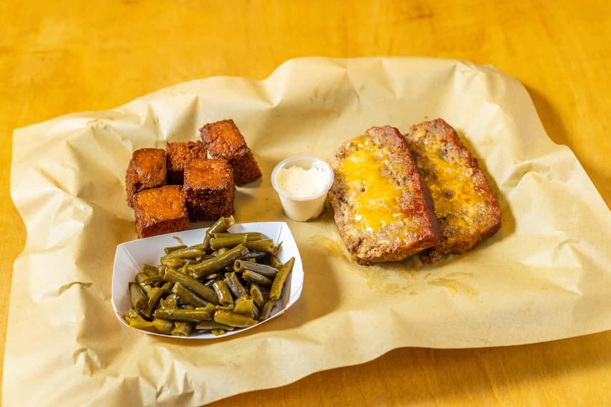 Nacho Mama's Smoked Meatloaf Plate