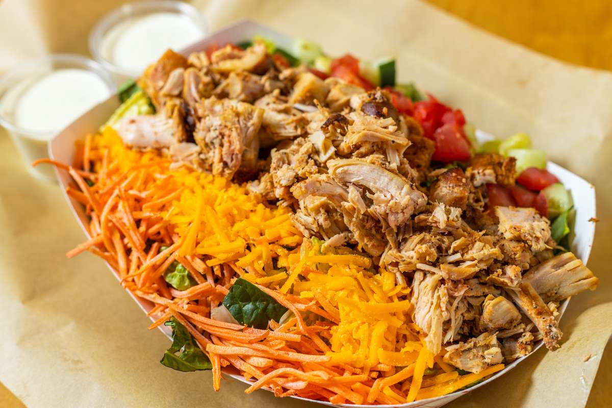 House Salad with Chopped Chicken