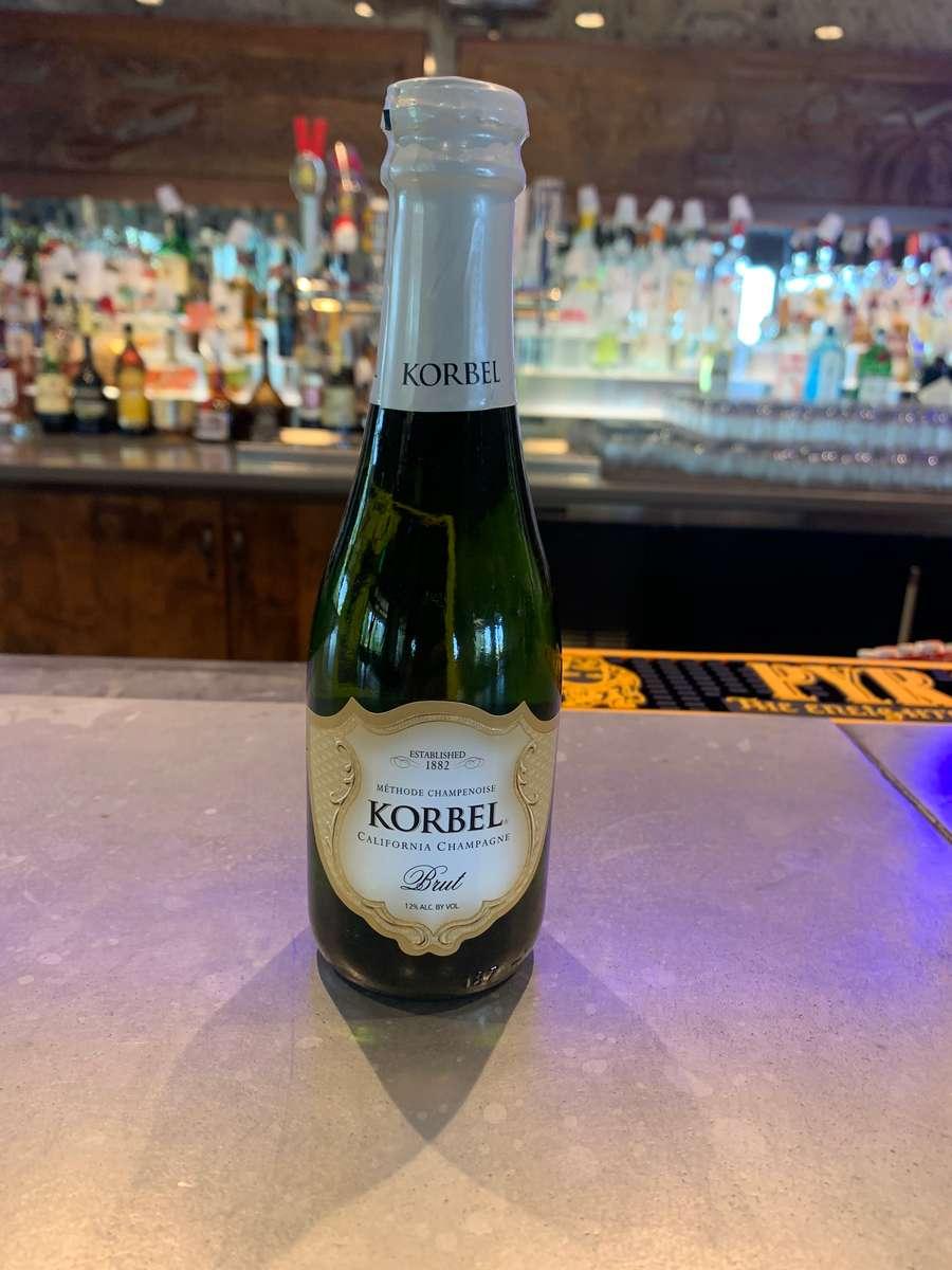 Mini Split Korbel Champagne Bottle