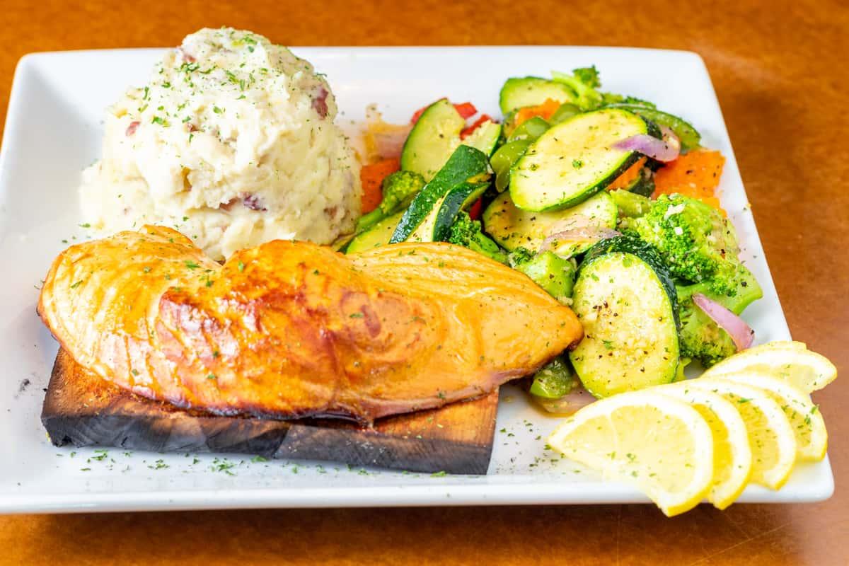 Cedar Fired Salmon