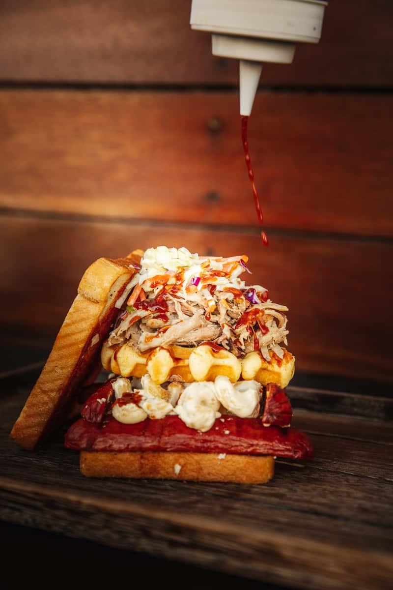 Log Cabin Sandwich