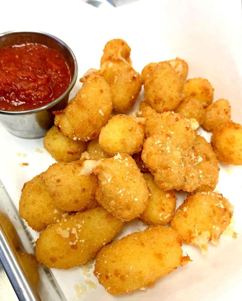 Breaded Mozzarella Balls (Cheese Curds)
