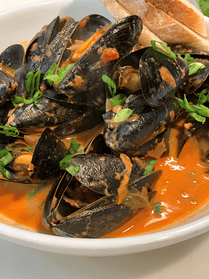 SHERRY SHALLOT MUSSELS