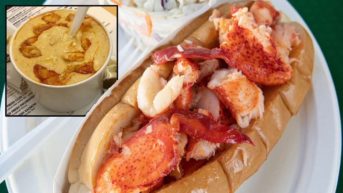 Lobster Roll & Lobster Bisque Combo