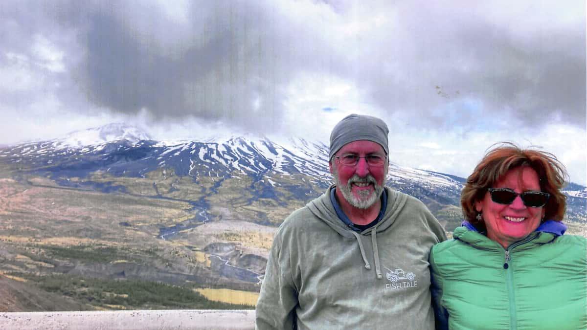Fish Tale Sweatshirt at Mt St Helens