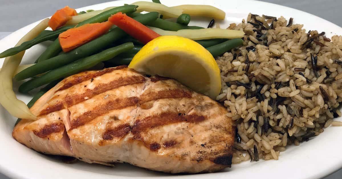 Lunch Char-Broiled Fresh Scottish Salmon