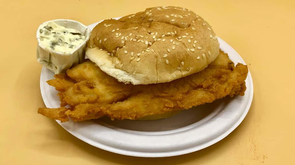 Fresh Fried Fish Sandwich