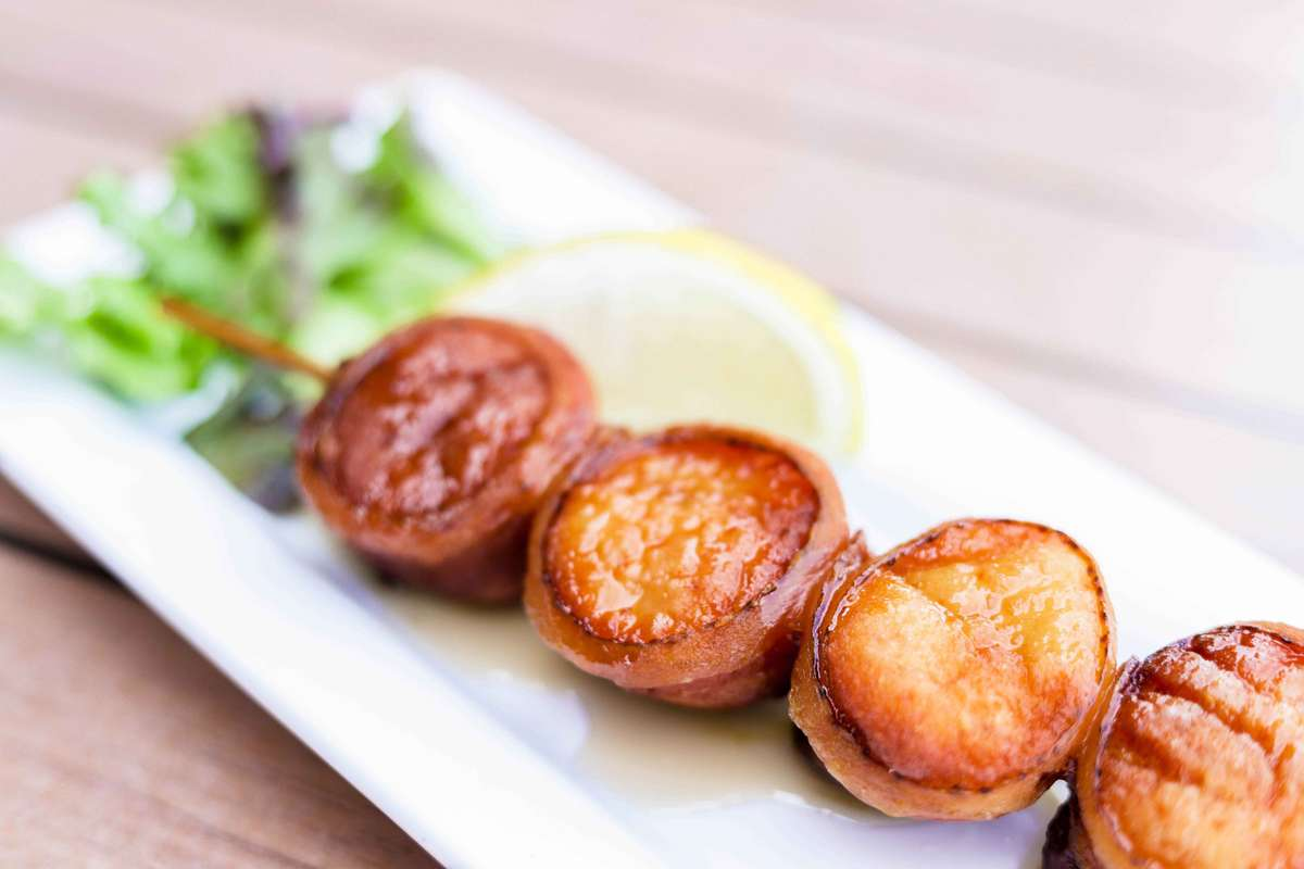 Scallops Wrapped in Bacon