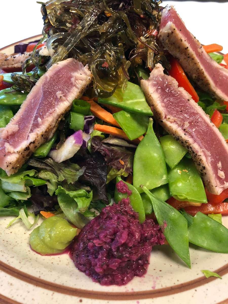 Seared Wild Ahi Tuna Salad