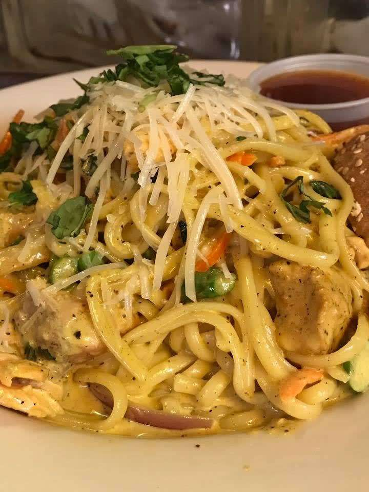 Curry Coconut Seafood Linguine