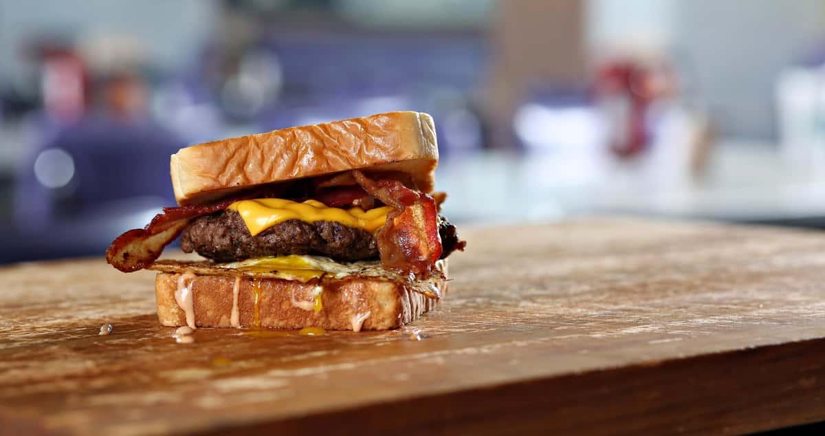 Burger on Texas Toast
