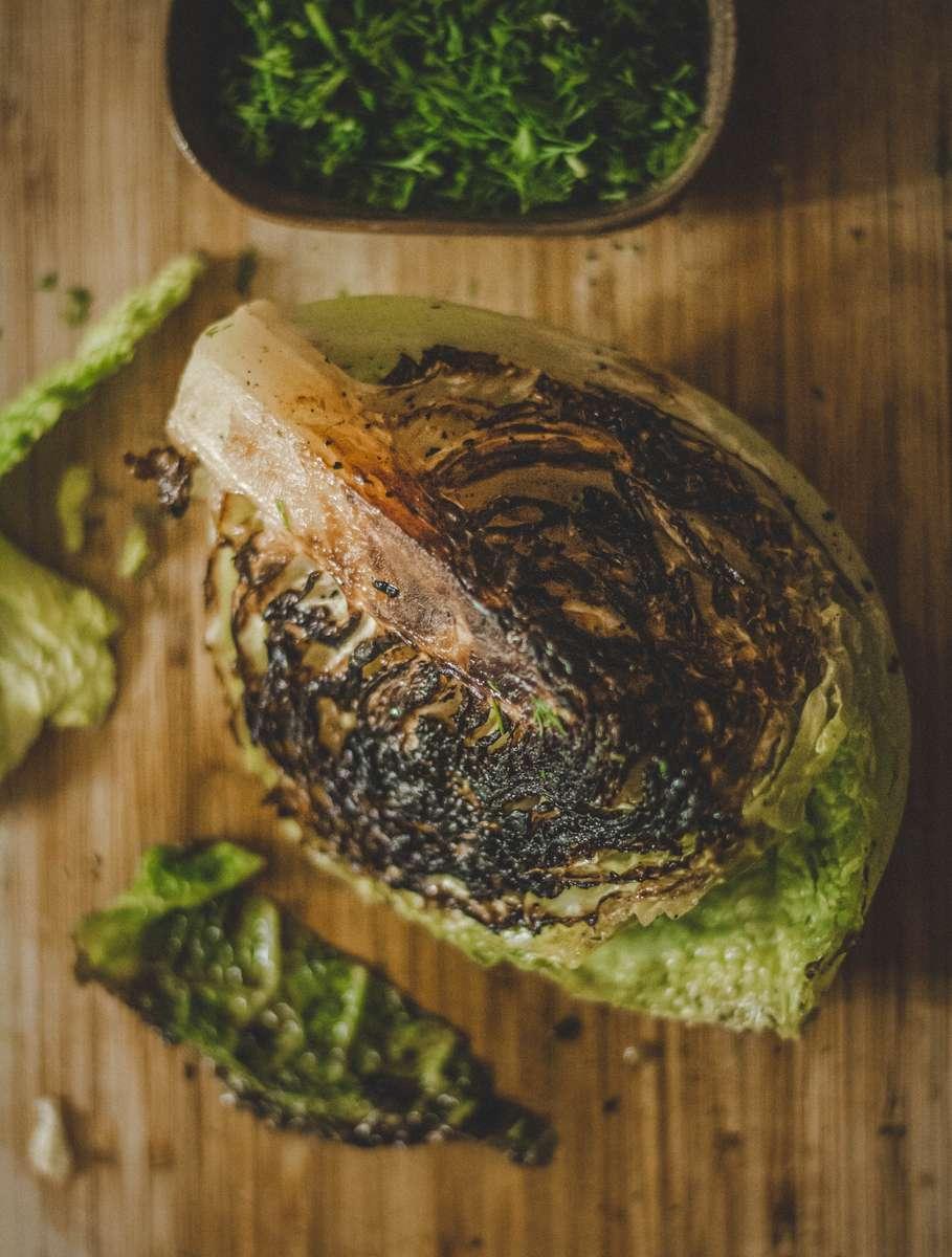charred lettuce