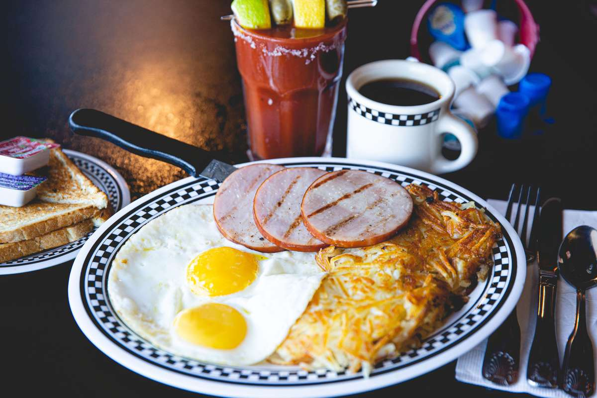Canadian Bacon & Eggs