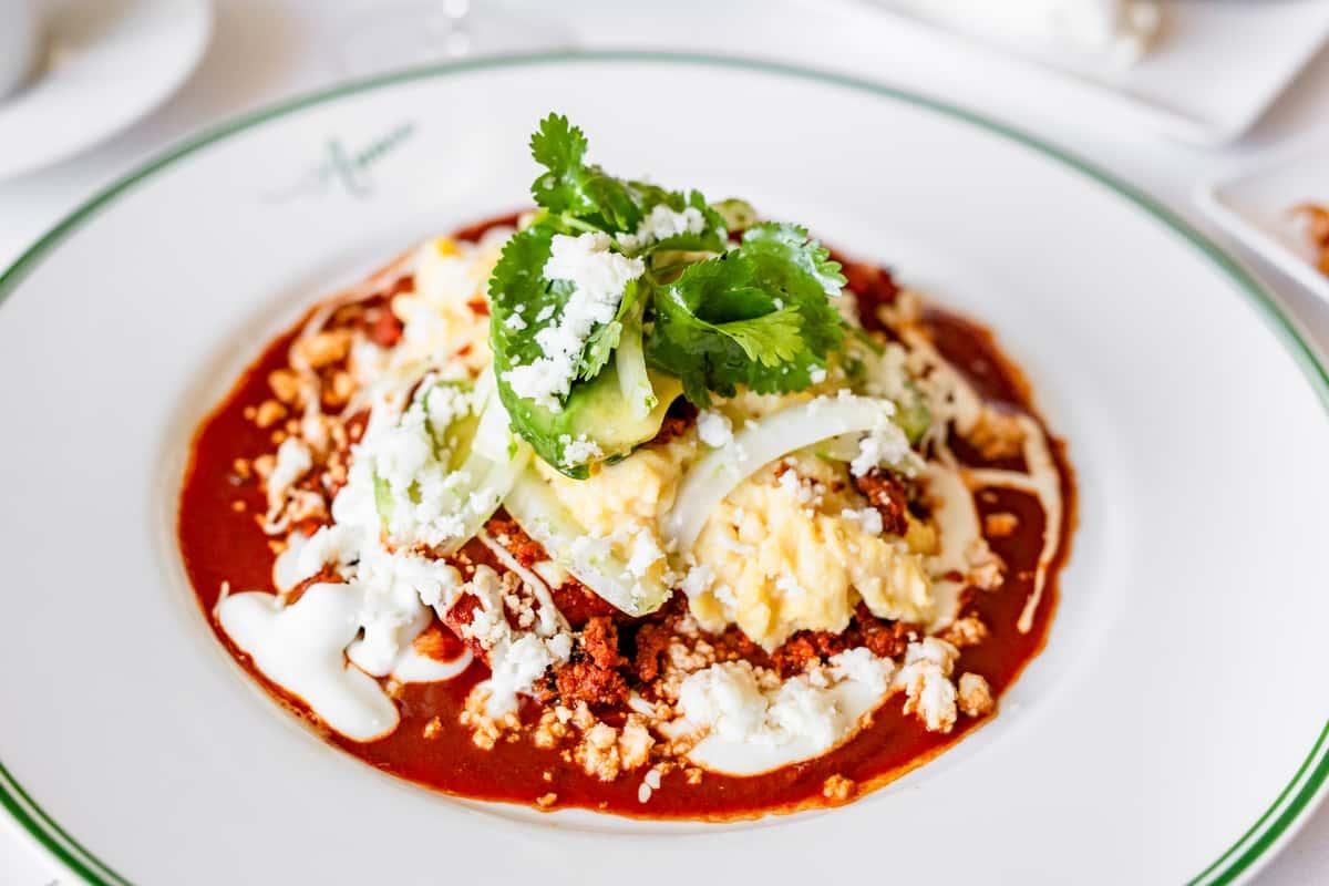 Egg & Chorizo Enchiladas