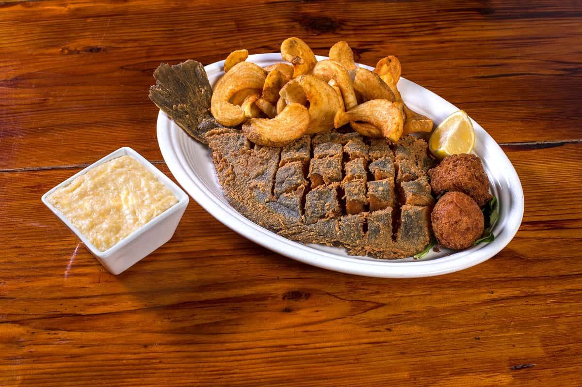 Whole Fried Flounder