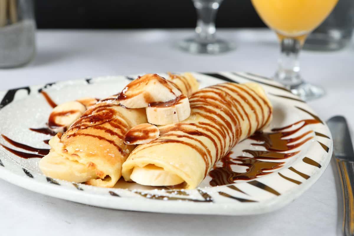 Chocolate & Banana Crepes
