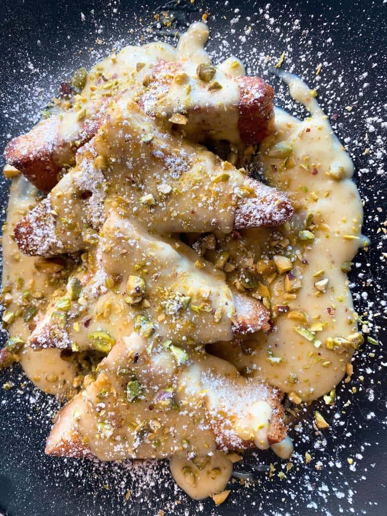 Lemon Pistachio Cream French Toast