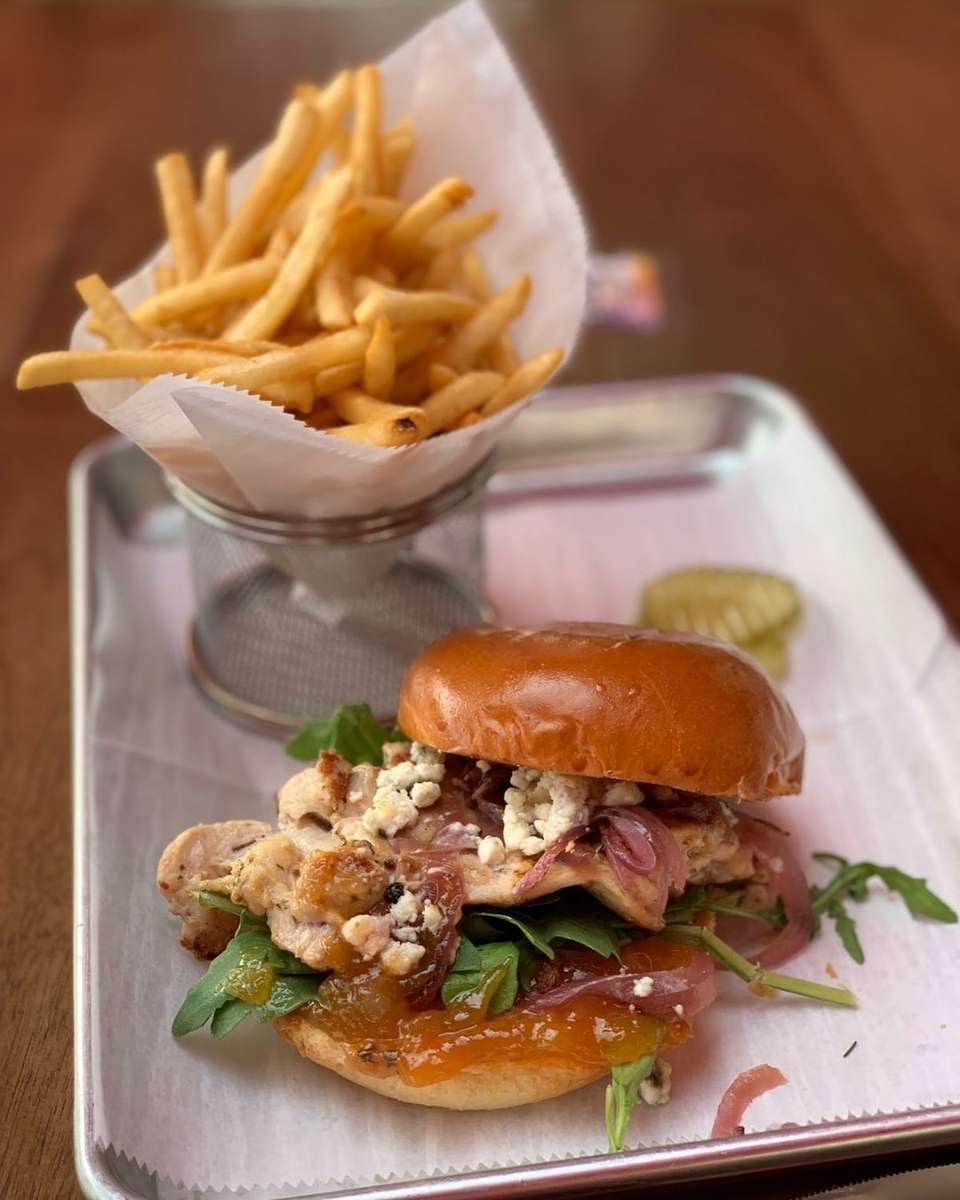 Mango Chutney and Blue Cheese Burger