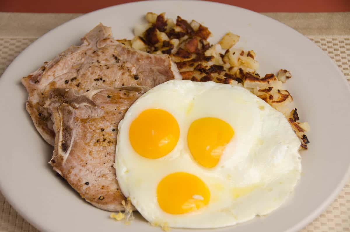 Pork Chops & Eggs