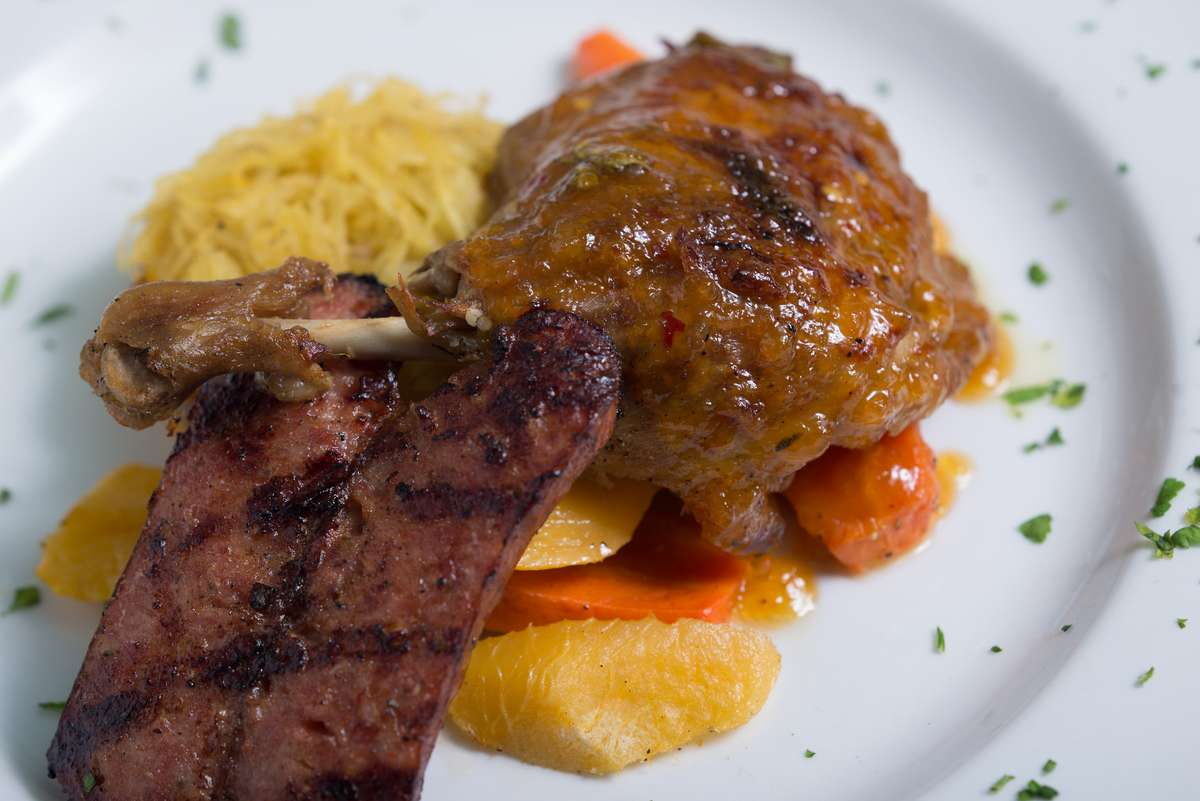 Duck Confit and Wild Boar