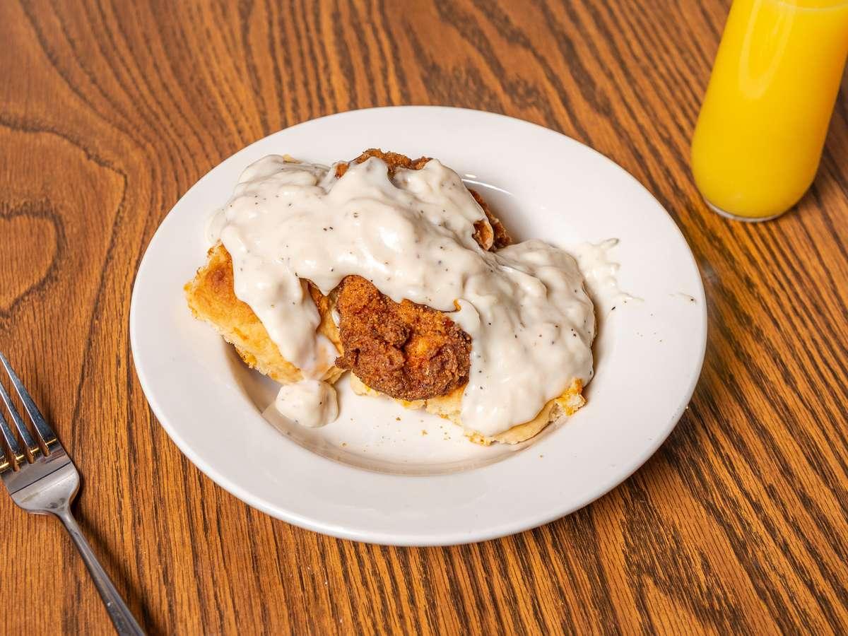 Chicken Fried Chicken Biscuits 'N' Gravy