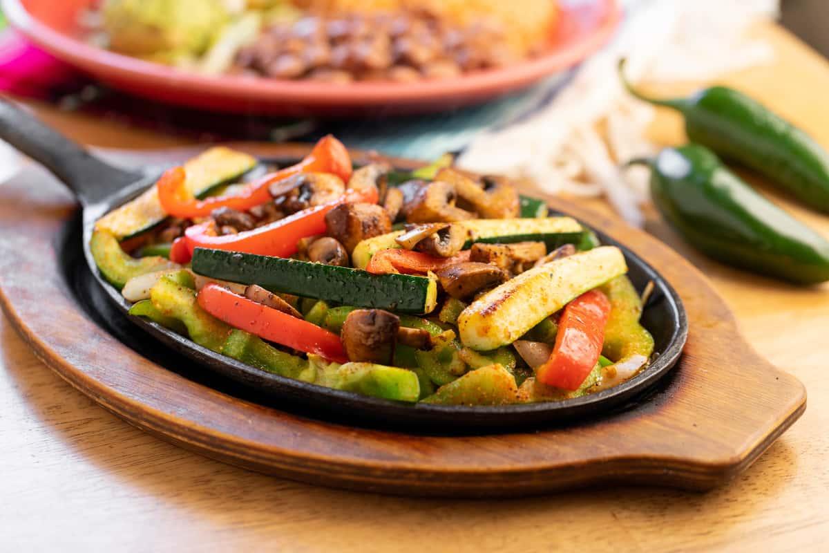 veggie fajitas for lunch specials