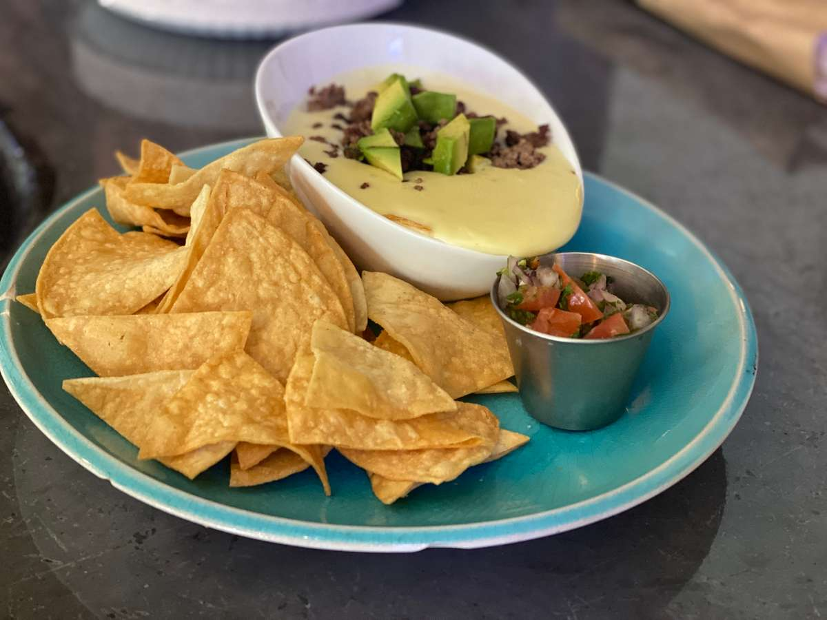 Loaded Blanco Queso w/ Ground Ostrich