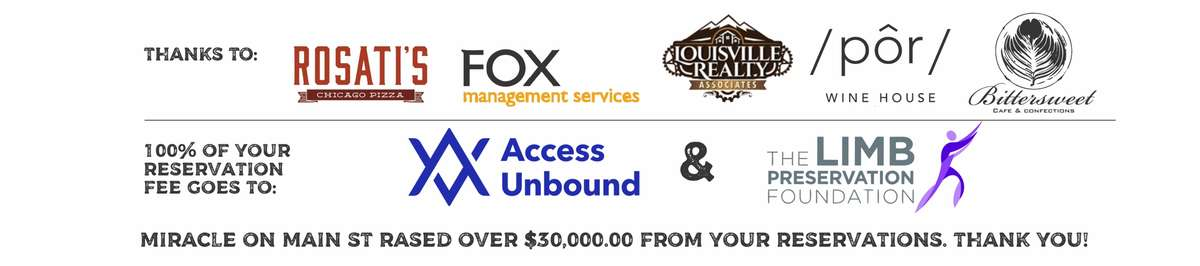 Thank you to our partners: Fox Property Management, Louisville Realty, Rosati's Pizza and Ferrari