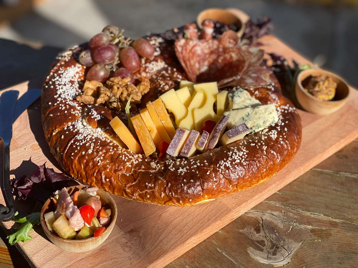 Charcuterie in Giant Soft Pretzel