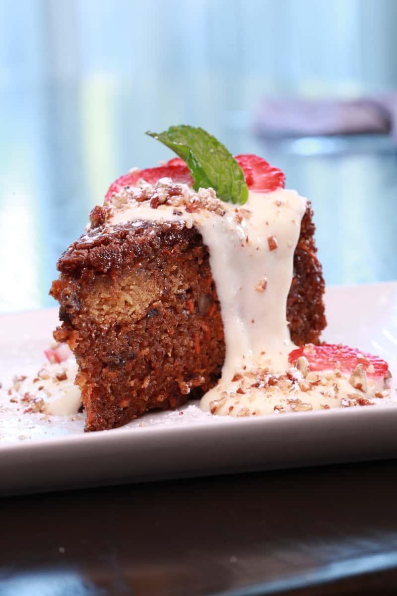 Warm Buttermilk Glazed Carrot Cake