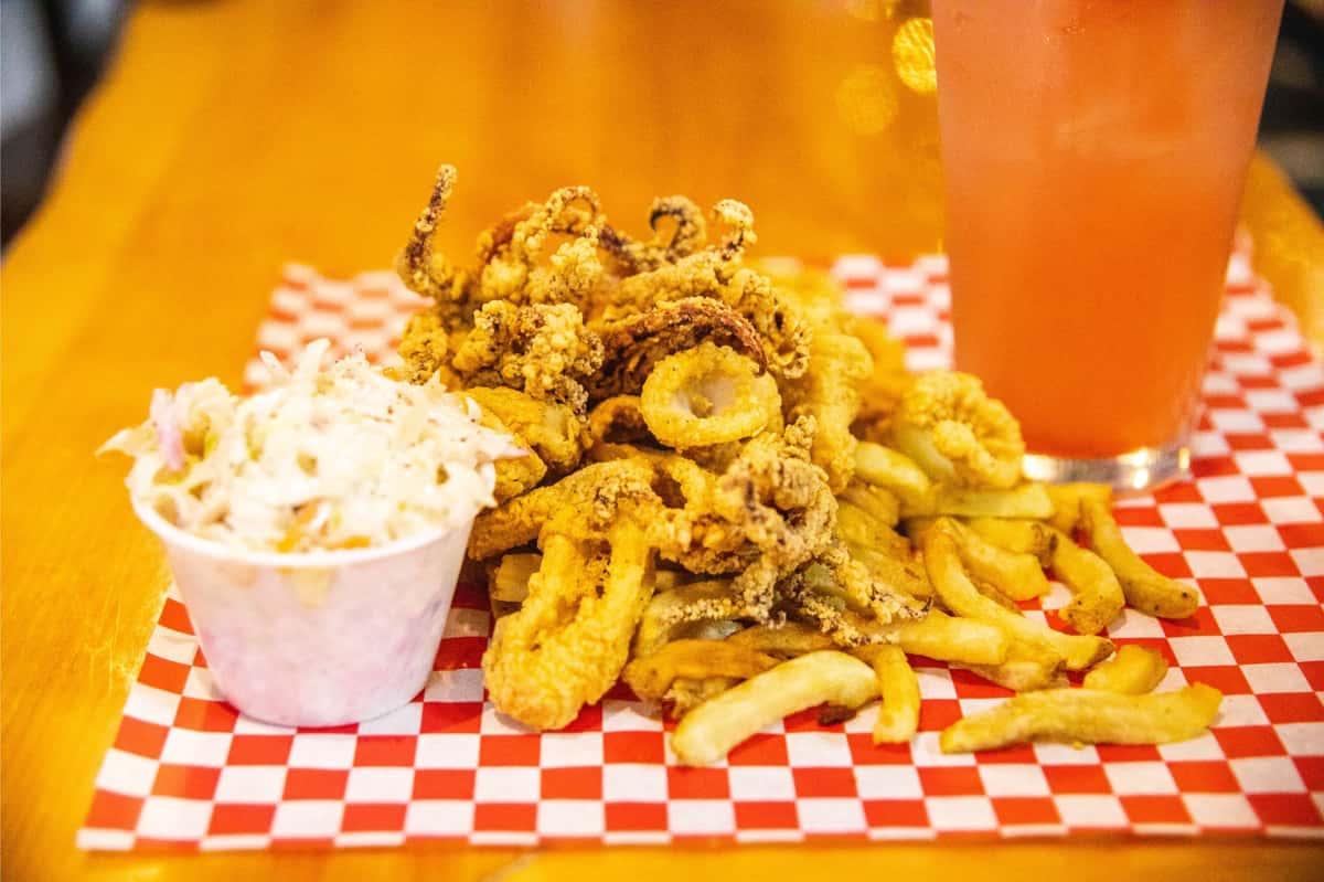 pile of fried calamari