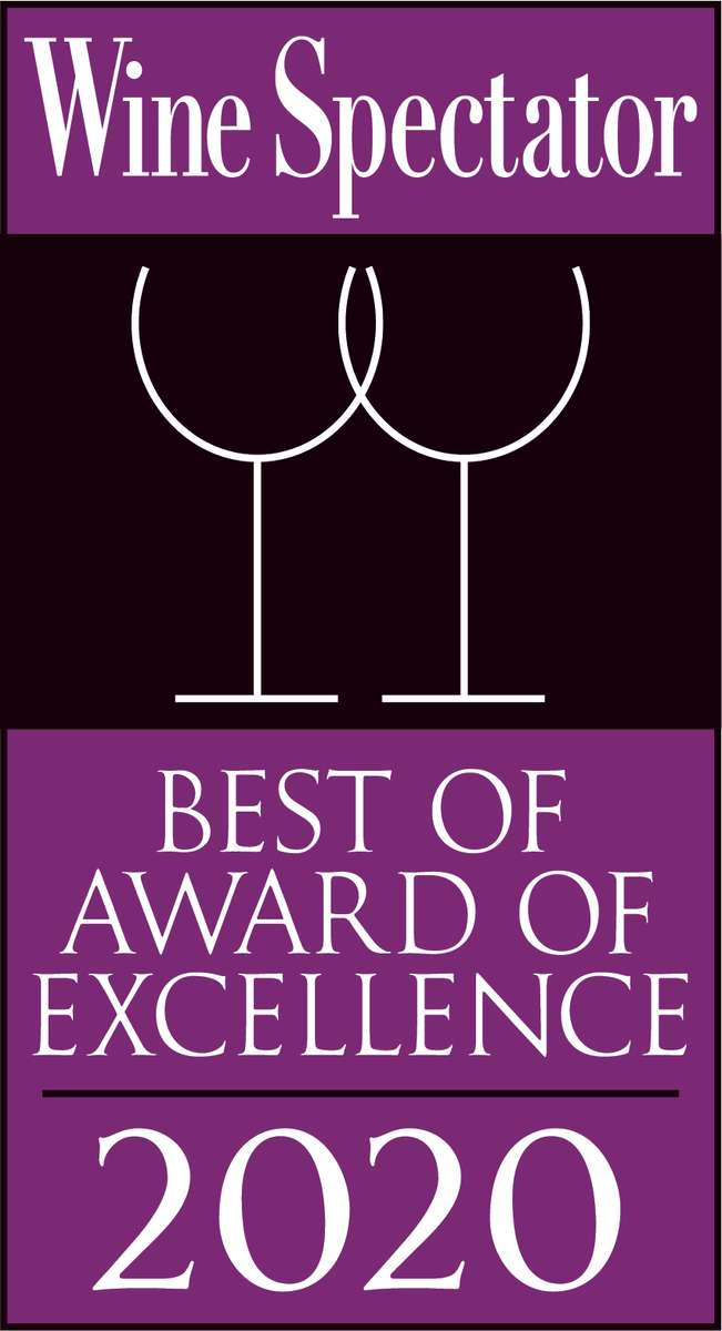 Wine Spectator Best of Award of Excellence 2019 Winner