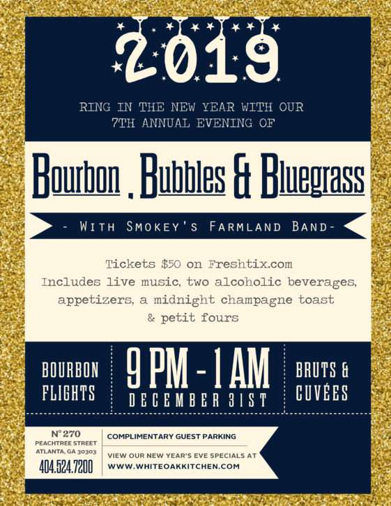 NYE Bourbon, Bubbles & Bluegrass