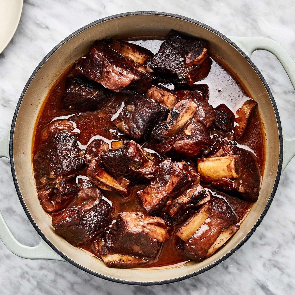 Braised Short Rib of Beef Dinner for Four