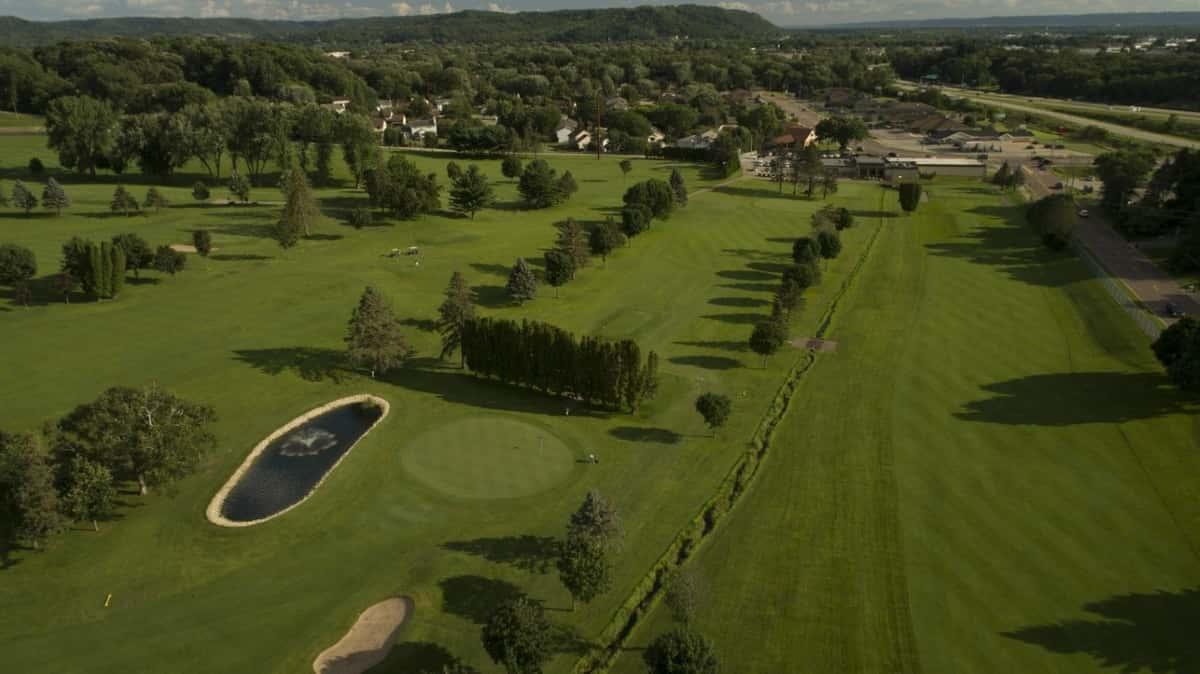 golf pond view