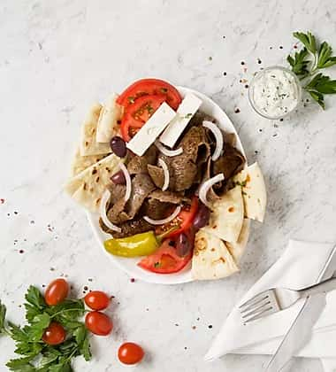 pita and meat