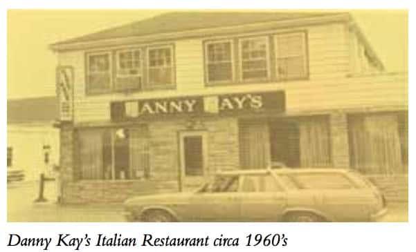 Danny Kay's Italian Restaurant circa 1960's