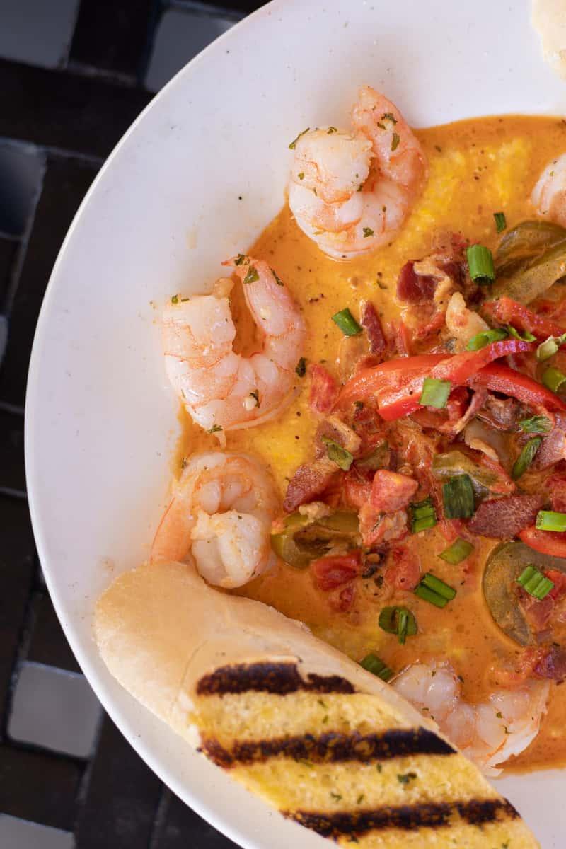 plate of shrimp