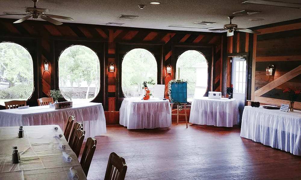inside set up for an event