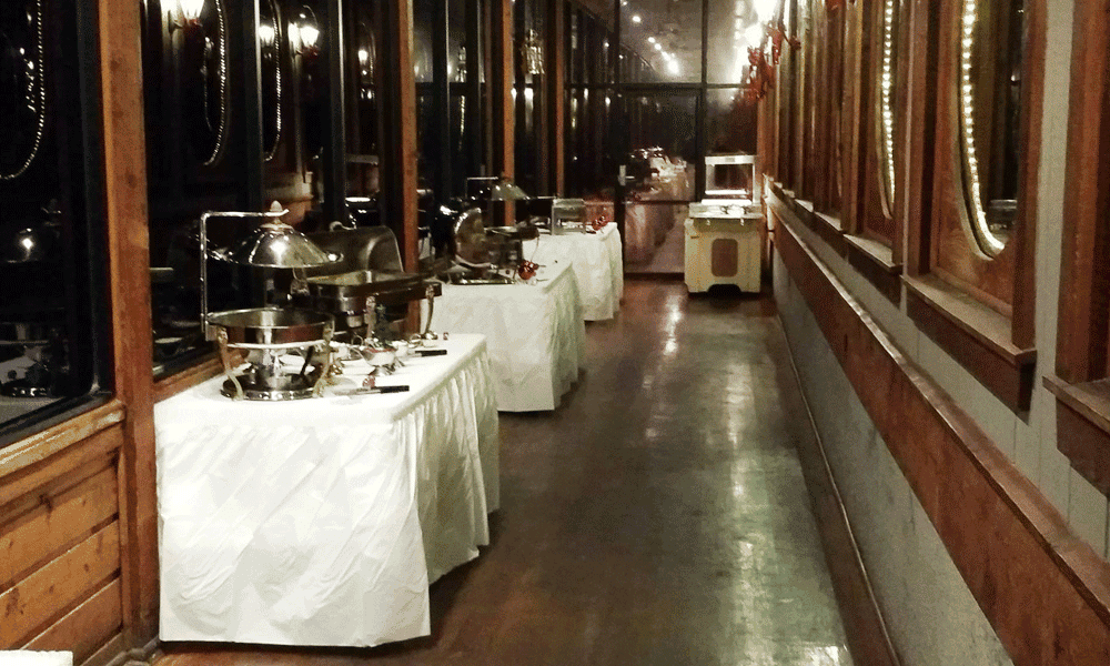 tables in the hallway