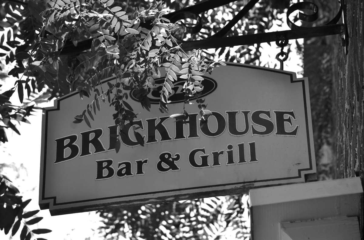 black and white sign