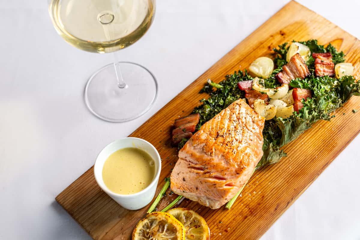 Planked Scottish Salmon