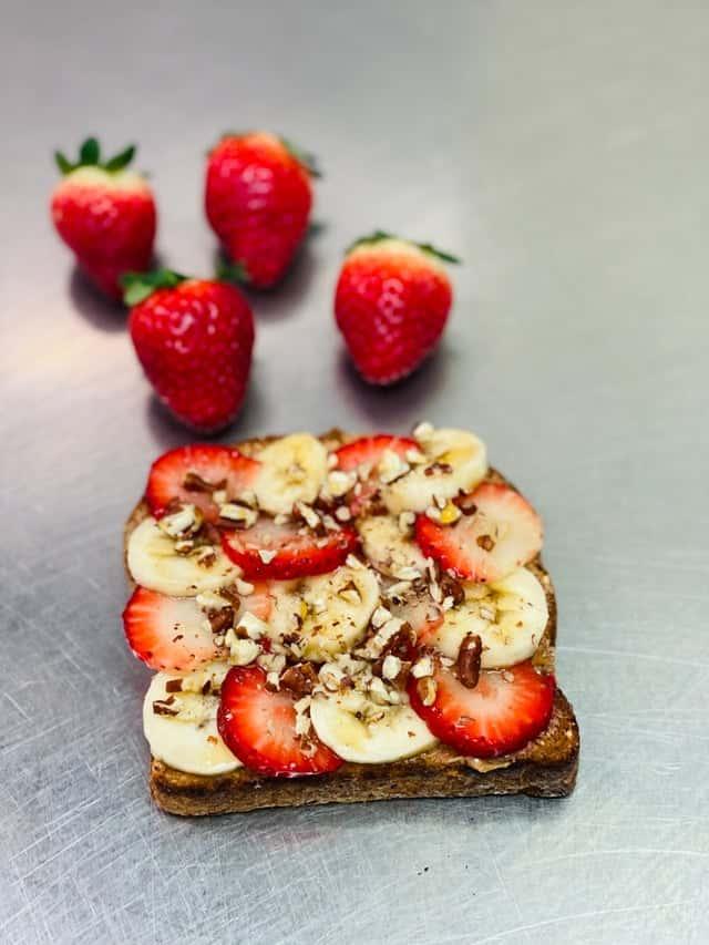 Strawberry Banana Almond Toast