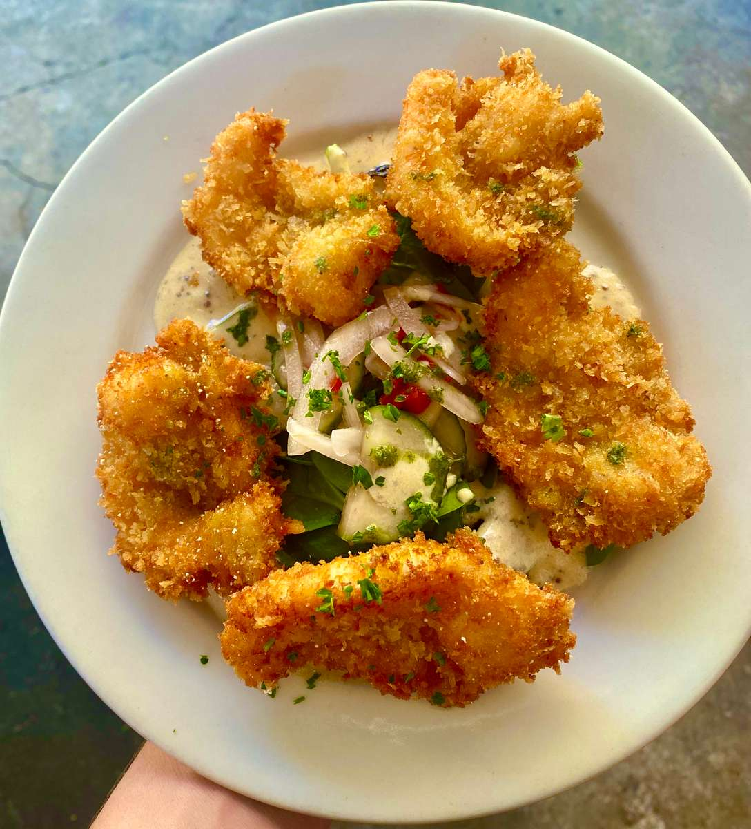 Fried Shrimp Lafayette