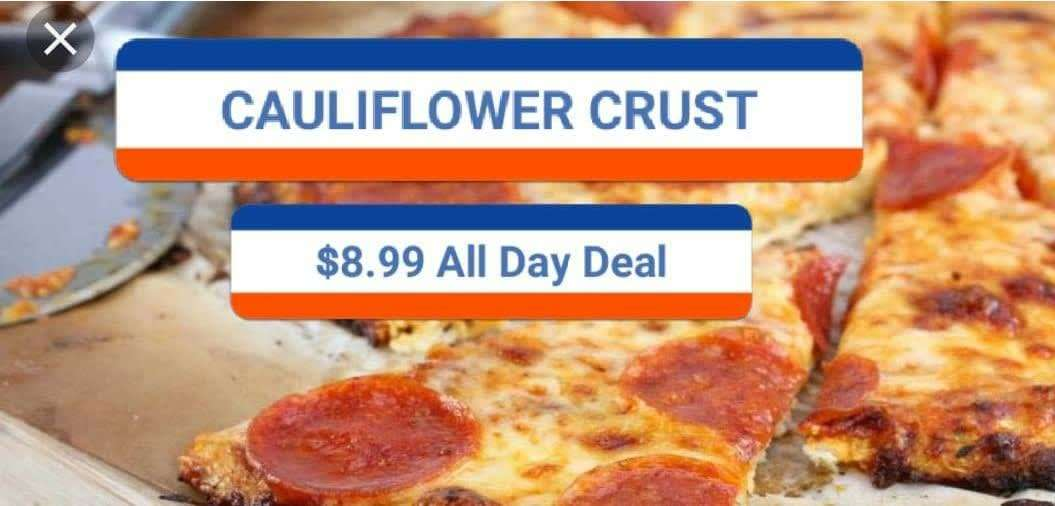 """10"""" Cauliflower Crust One Topping Pizza & Drink Special"""