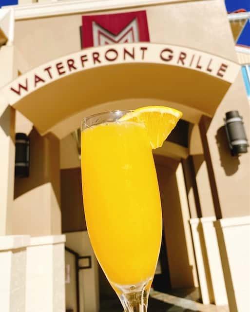Drink in front of restaurant