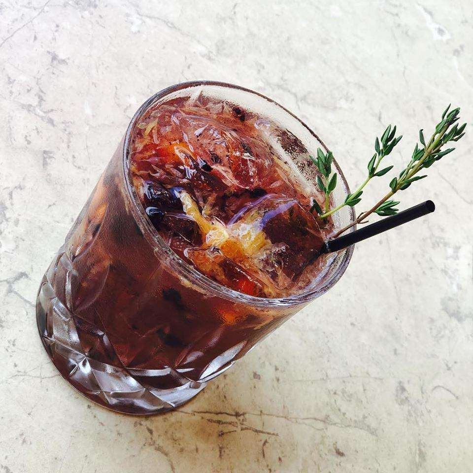 Blackberry Bulleit Old Fashioned