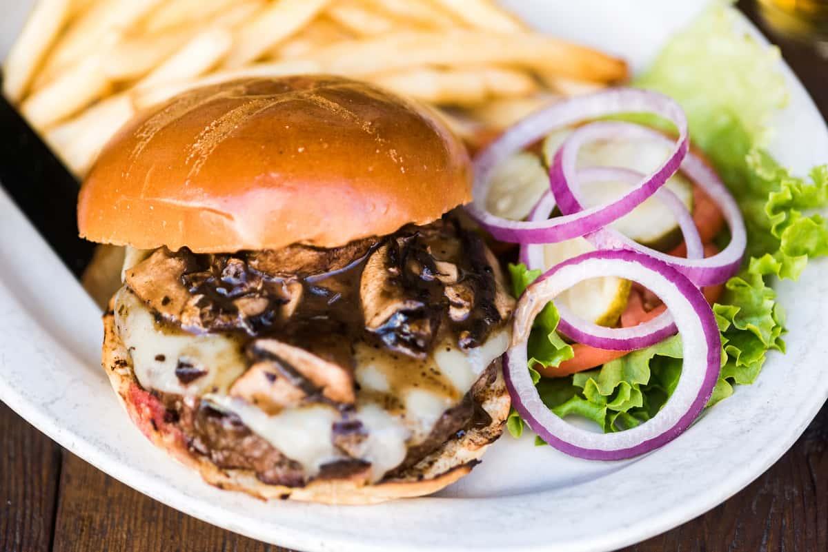 Portobello & Swiss Burger