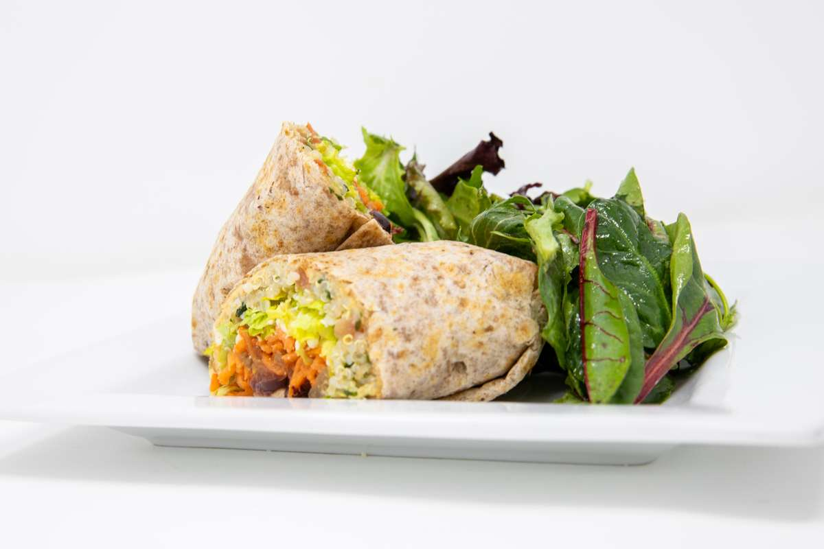 Wrap and salad